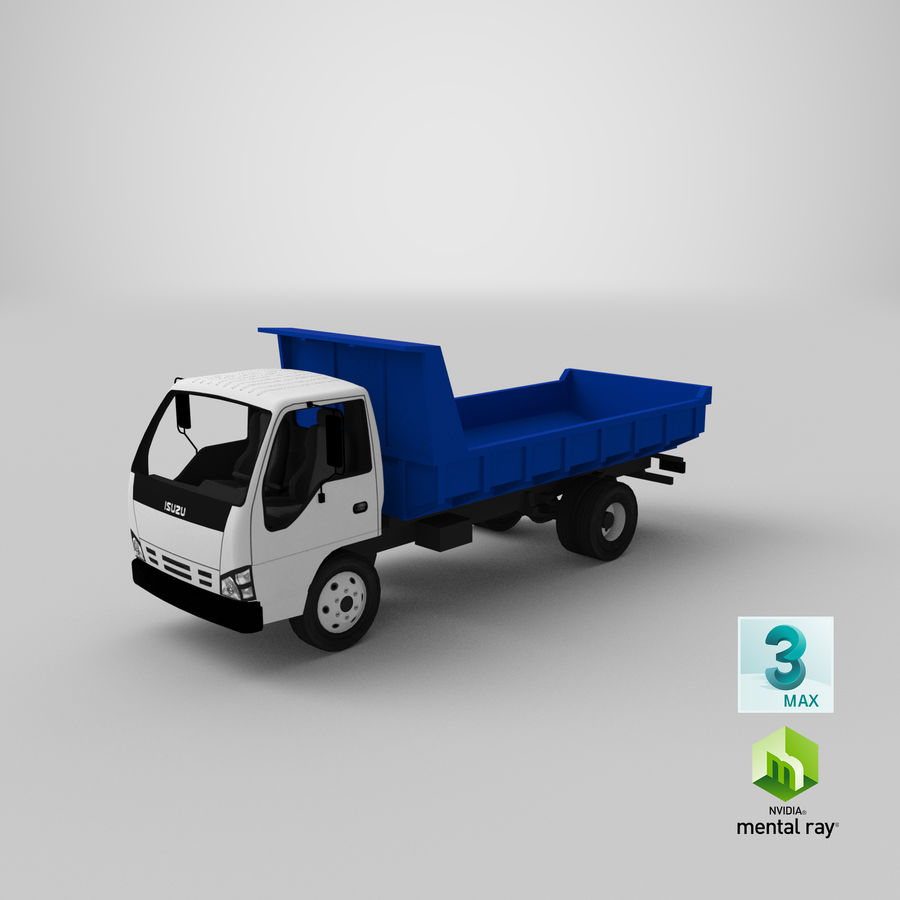 Isuzu Dump Truck royalty-free 3d model - Preview no. 21