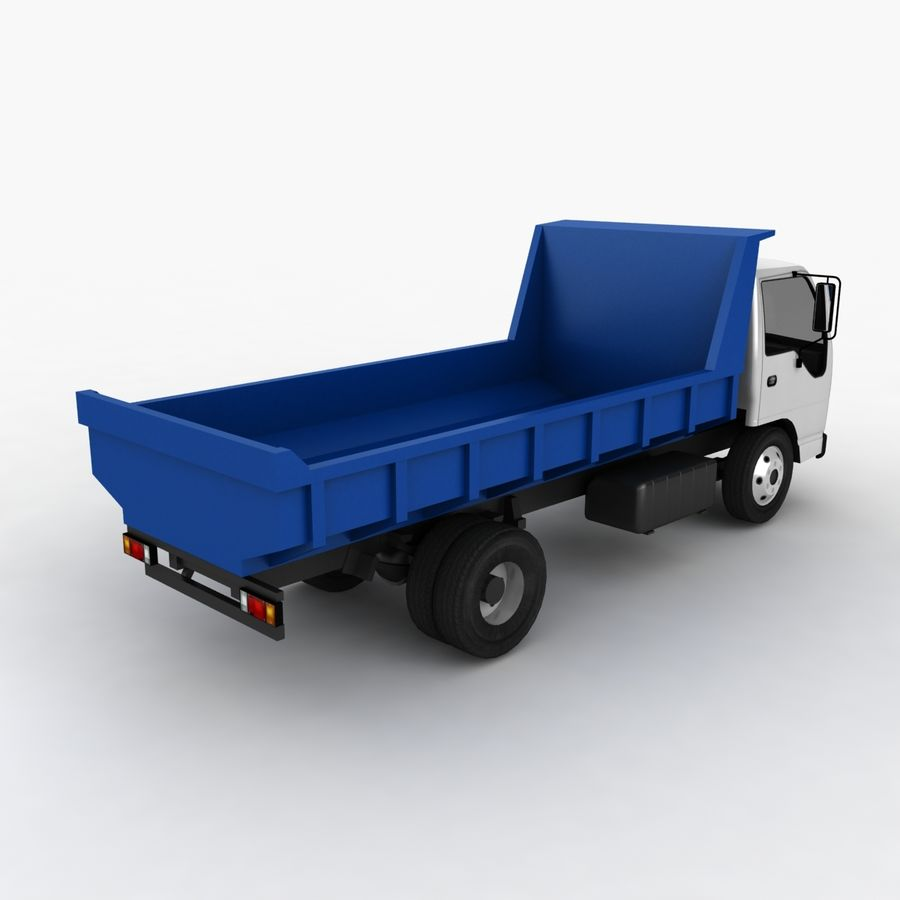Isuzu Dump Truck royalty-free 3d model - Preview no. 7