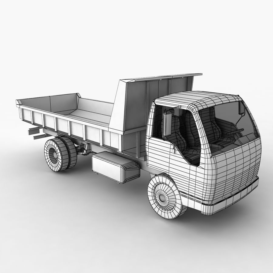 Isuzu Dump Truck royalty-free 3d model - Preview no. 12