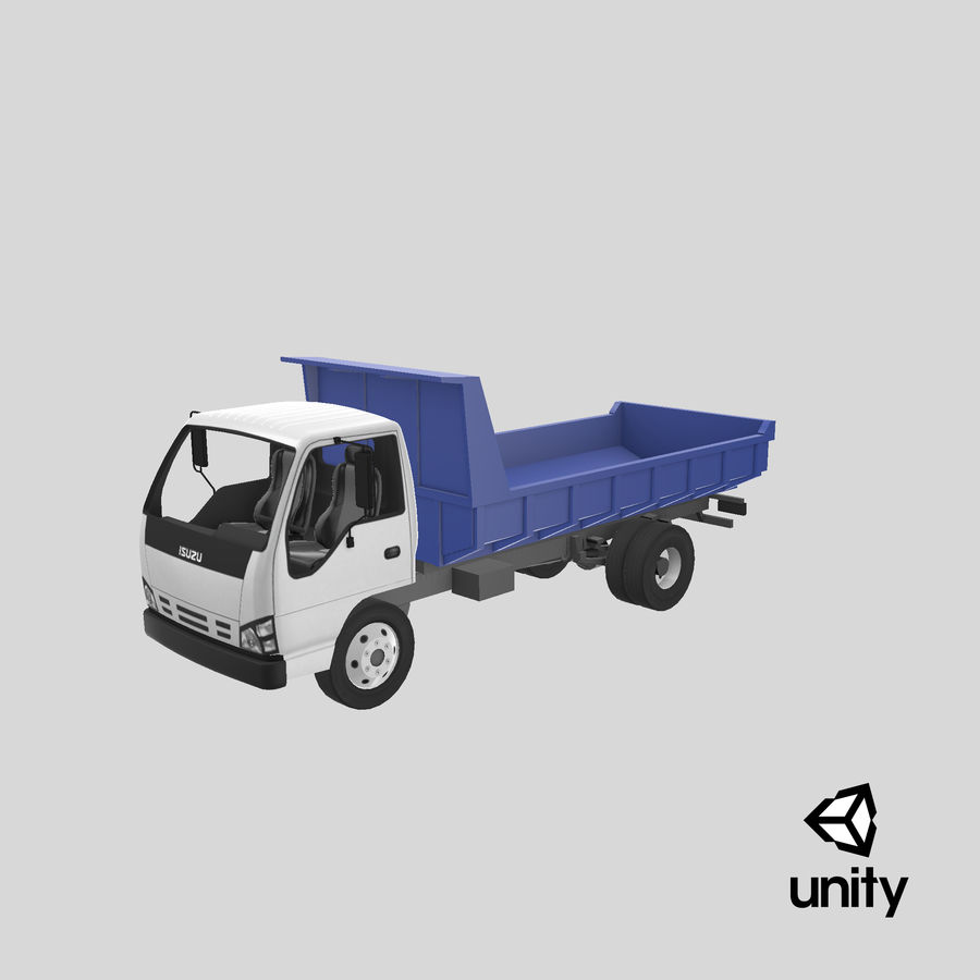 Isuzu Dump Truck royalty-free 3d model - Preview no. 23
