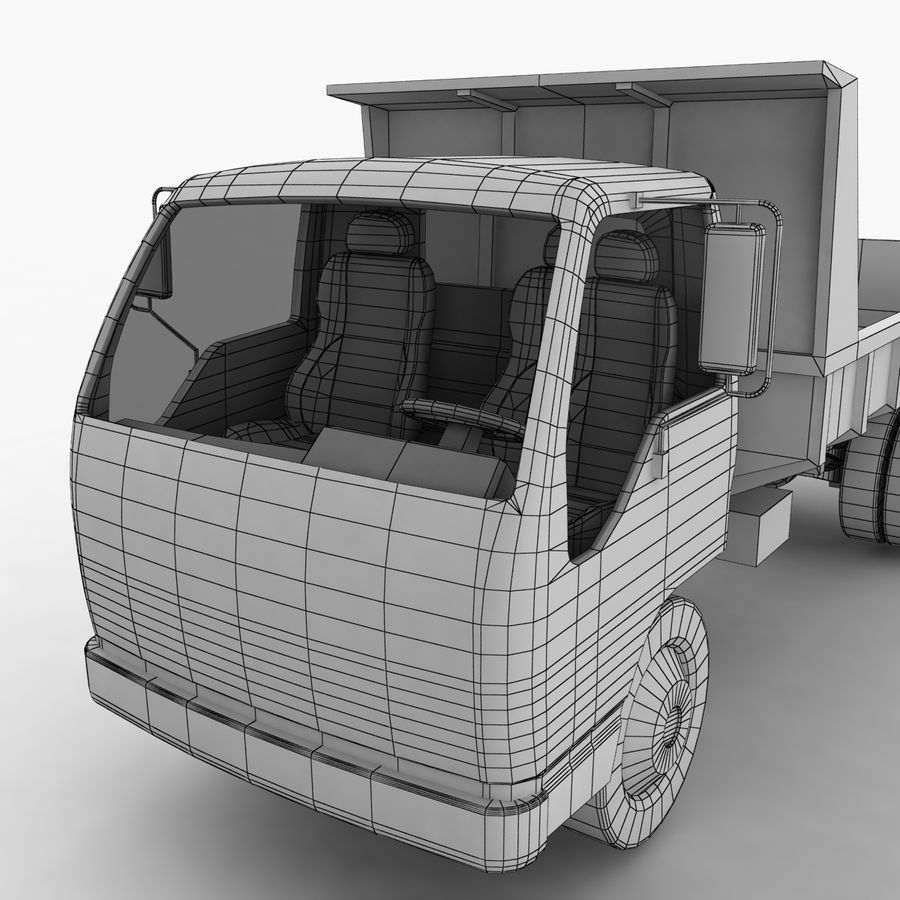 Isuzu Dump Truck royalty-free 3d model - Preview no. 15