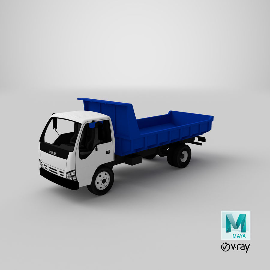 Isuzu Dump Truck royalty-free 3d model - Preview no. 18