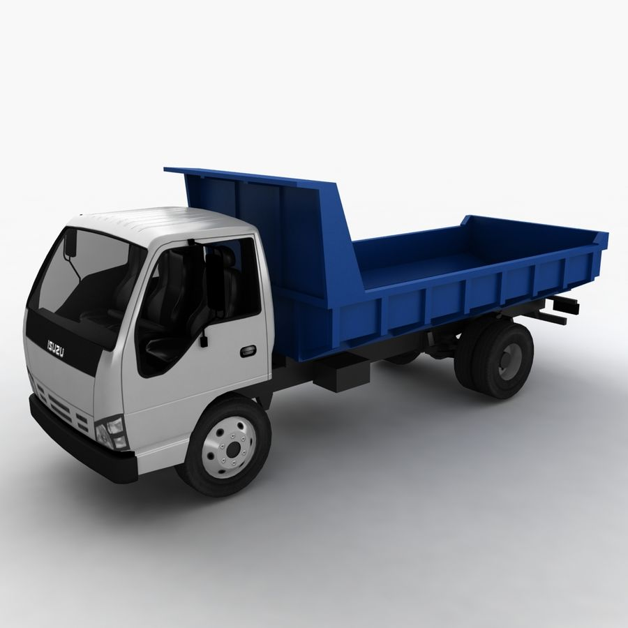 Isuzu Dump Truck royalty-free 3d model - Preview no. 2