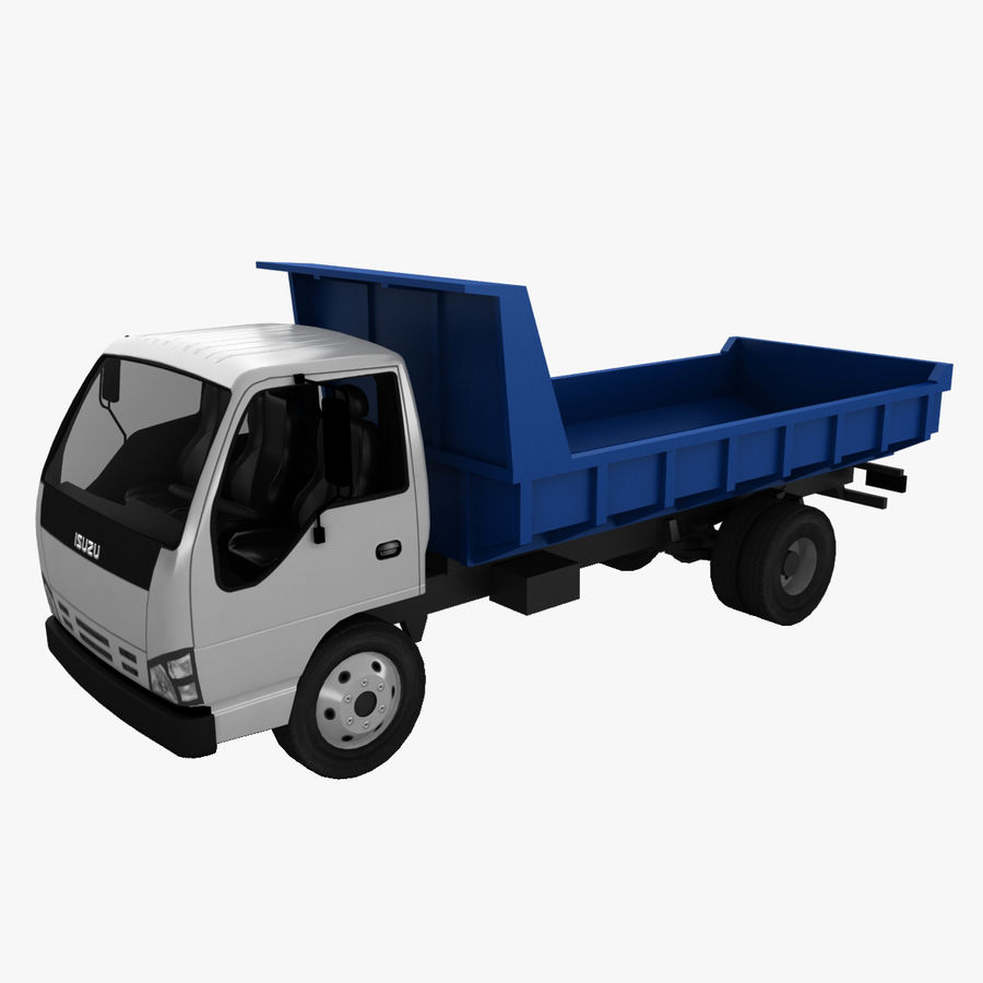 Isuzu Dump Truck royalty-free 3d model - Preview no. 1