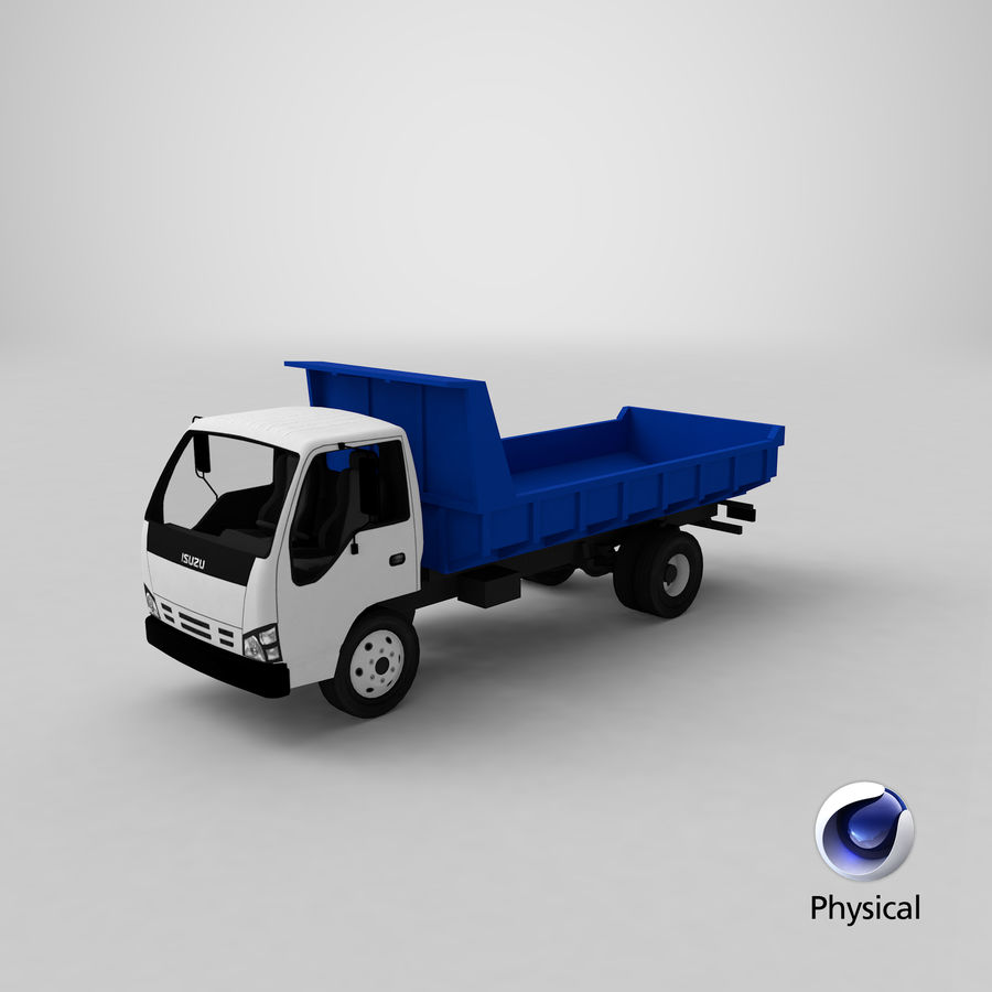 Isuzu Dump Truck royalty-free 3d model - Preview no. 24