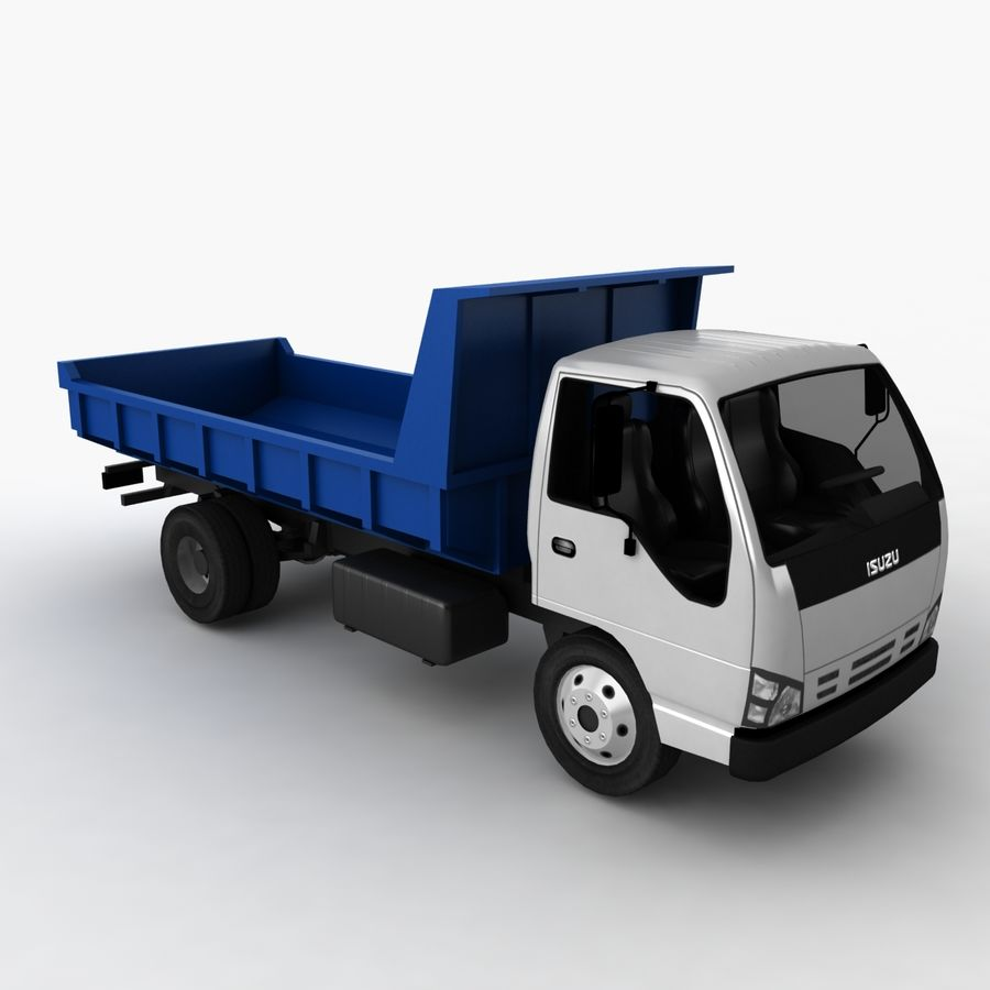 Isuzu Dump Truck royalty-free 3d model - Preview no. 6