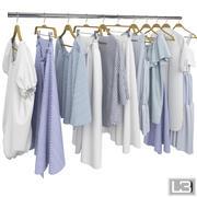 Kläder på galgar 10 3d model