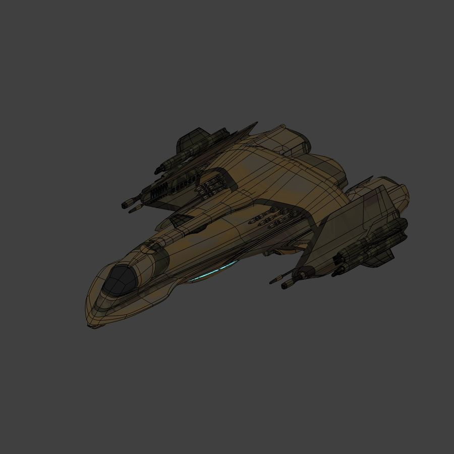 Gunship royalty-free 3d model - Preview no. 11