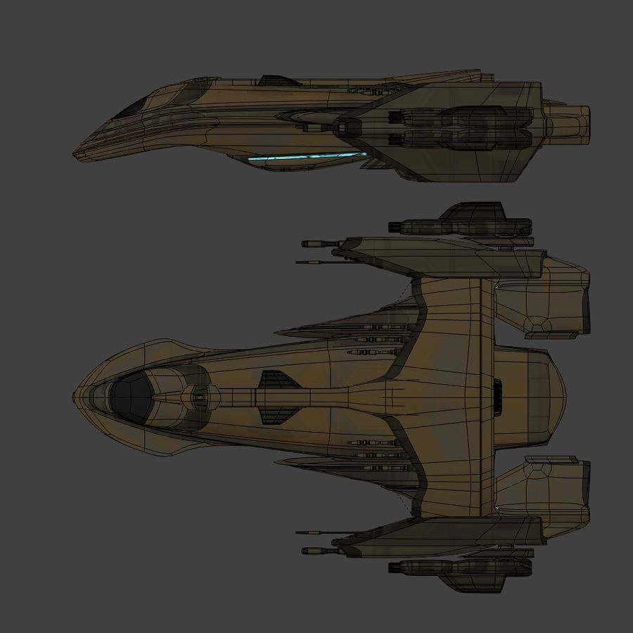 Gunship royalty-free 3d model - Preview no. 13