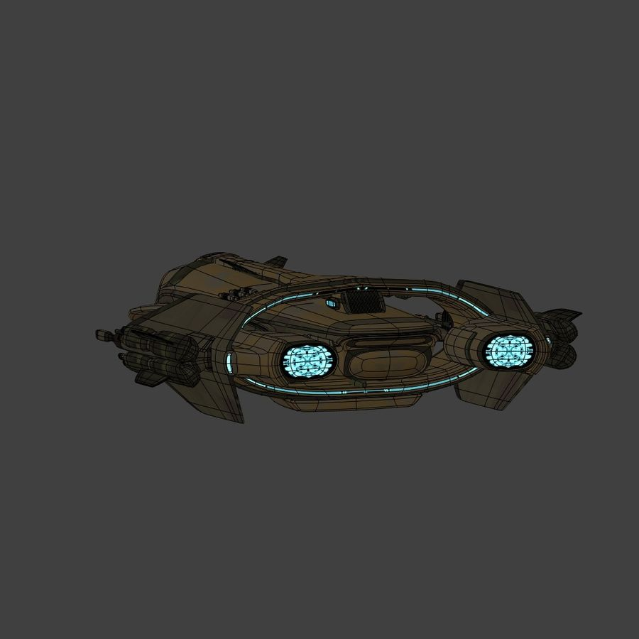 Gunship royalty-free 3d model - Preview no. 9