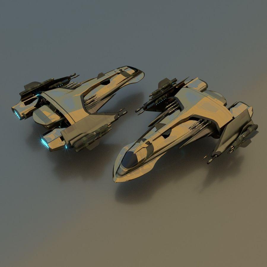 Śmigłowiec bojowy royalty-free 3d model - Preview no. 1