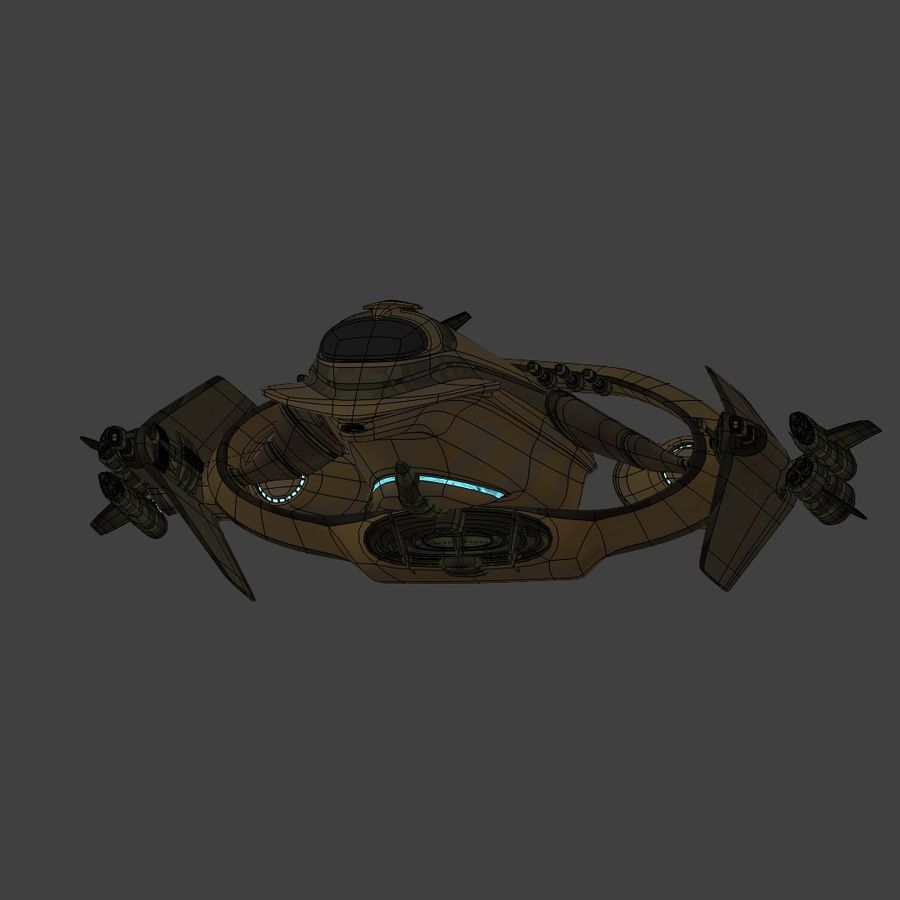 Gunship royalty-free 3d model - Preview no. 8