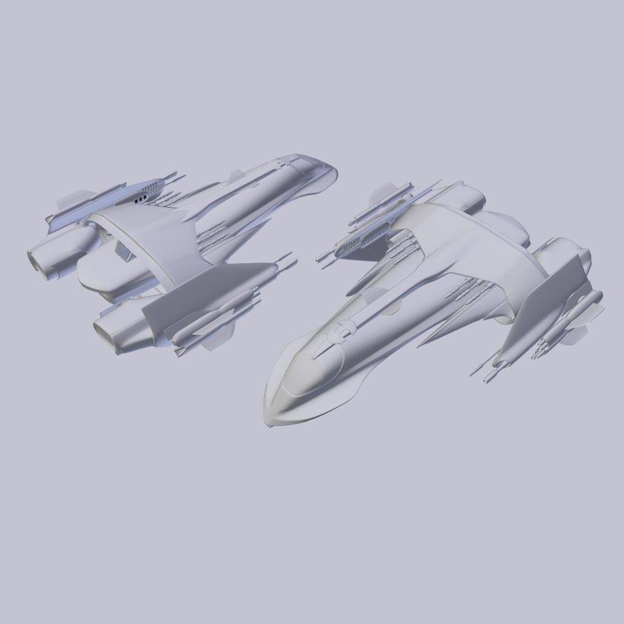 Śmigłowiec bojowy royalty-free 3d model - Preview no. 4