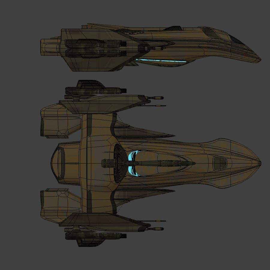 Gunship royalty-free 3d model - Preview no. 14