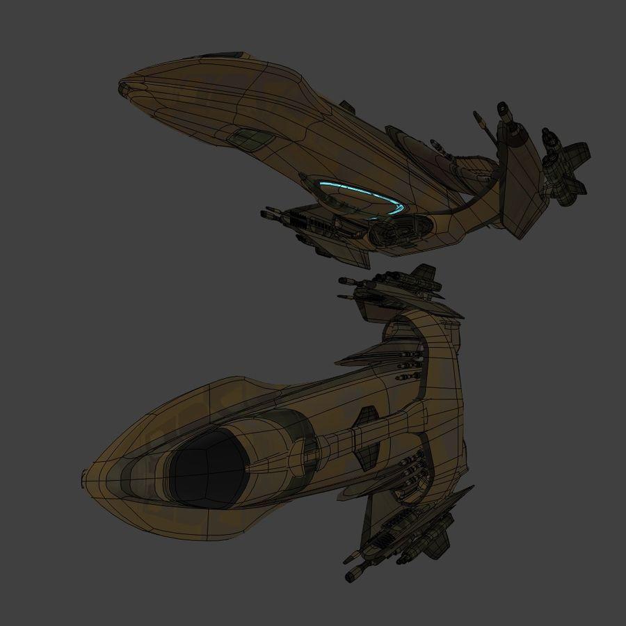 Śmigłowiec bojowy royalty-free 3d model - Preview no. 15