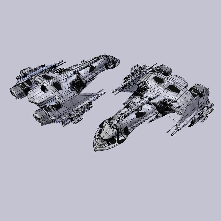 Śmigłowiec bojowy royalty-free 3d model - Preview no. 5