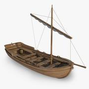 Medieval Lifeboat 3d model