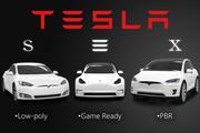 Pacote de baixo poli de Tesla Model SX 3 3d model