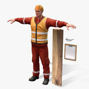 Real Time Rigged Worker 2.0 PRO 3d model