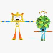 2016年奥运会吉祥物 3d model