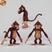 Cartoon aap 3d model