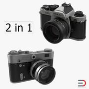 Collezione di macchine fotografiche vintage 3d model