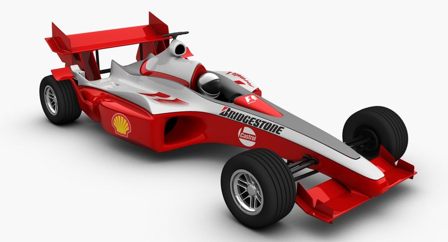 Formel 1 bil royalty-free 3d model - Preview no. 2