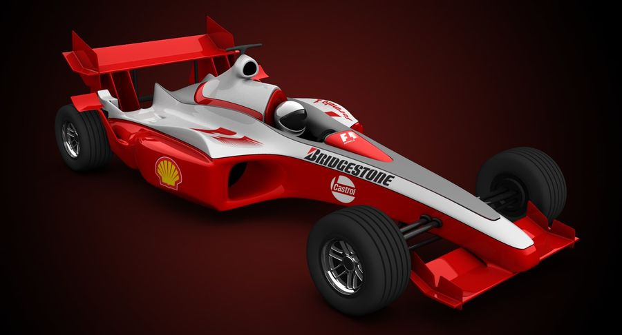 Formel 1 bil royalty-free 3d model - Preview no. 3