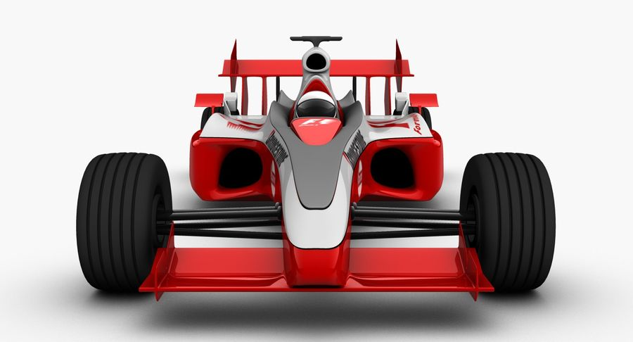 Formel 1 bil royalty-free 3d model - Preview no. 8