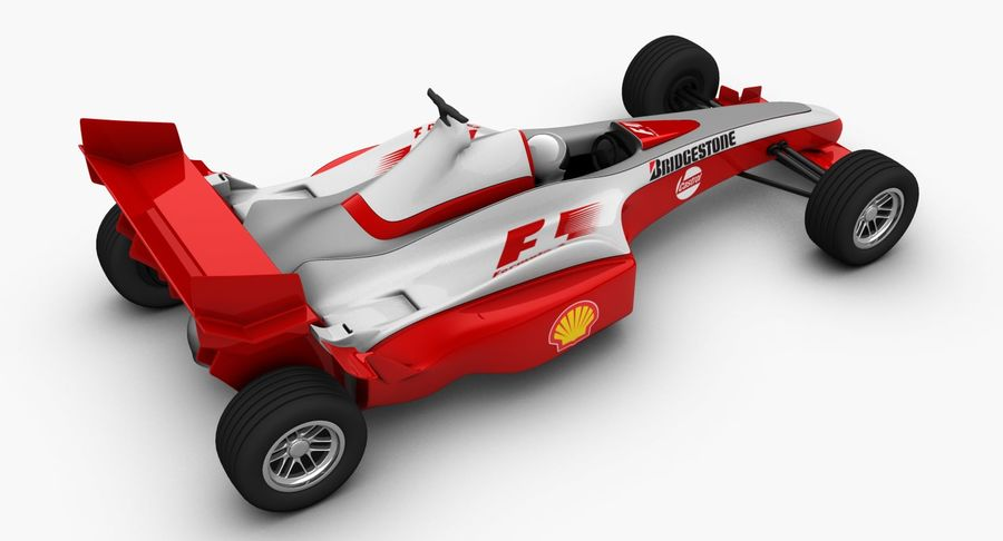 Formel 1 bil royalty-free 3d model - Preview no. 6