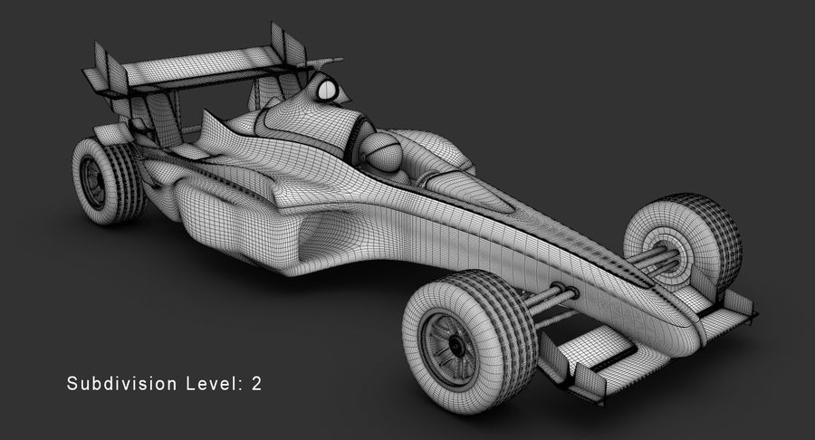 Formel 1 bil royalty-free 3d model - Preview no. 15