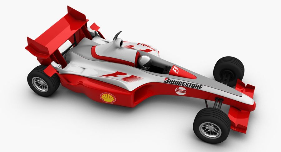 Formel 1 bil royalty-free 3d model - Preview no. 4