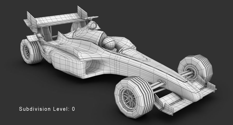 Formel 1 bil royalty-free 3d model - Preview no. 13