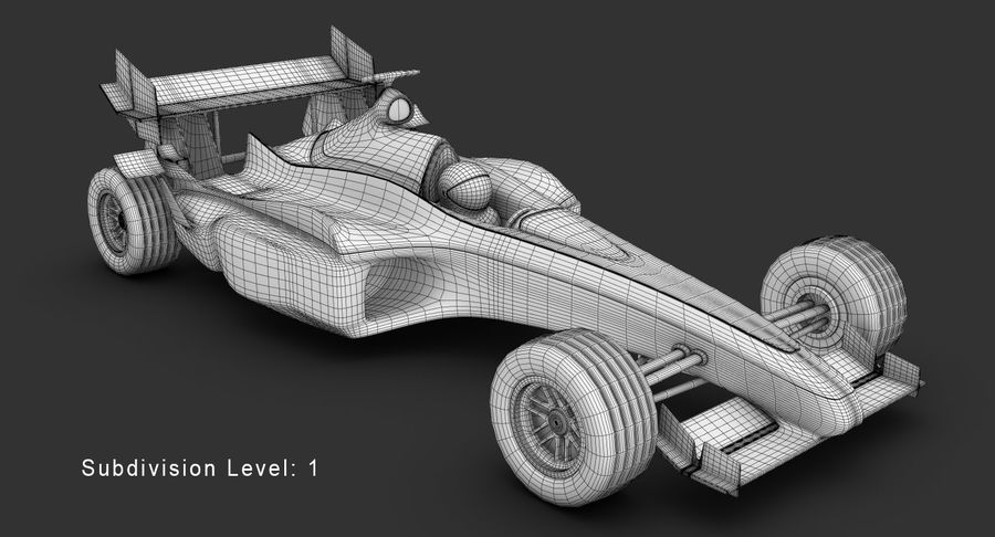 Formel 1 bil royalty-free 3d model - Preview no. 14