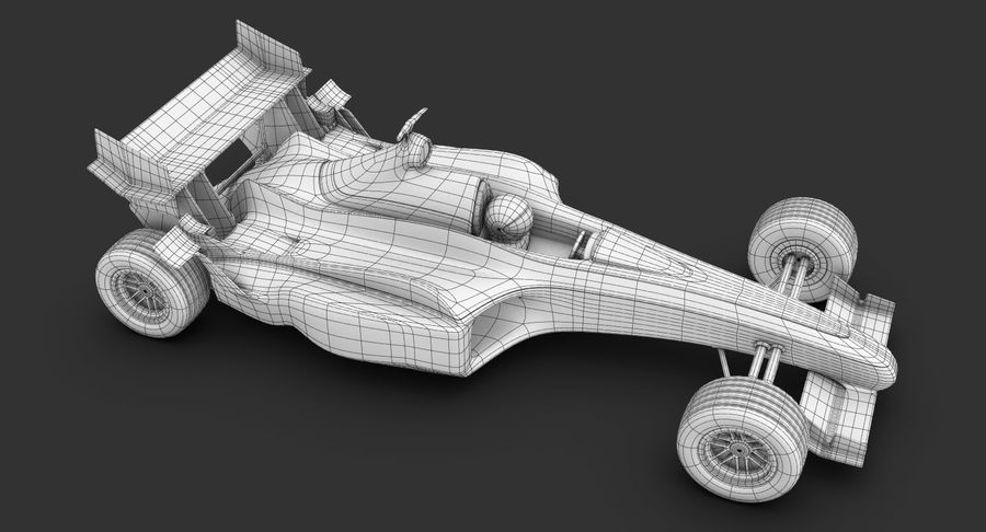 Formel 1 bil royalty-free 3d model - Preview no. 19