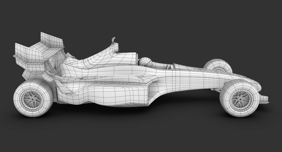 Formel 1 bil royalty-free 3d model - Preview no. 21