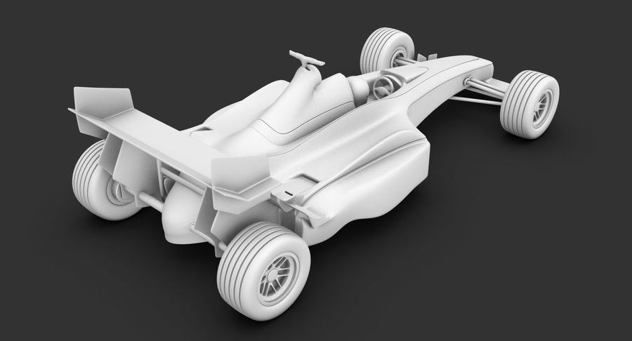 Formel 1 bil royalty-free 3d model - Preview no. 25