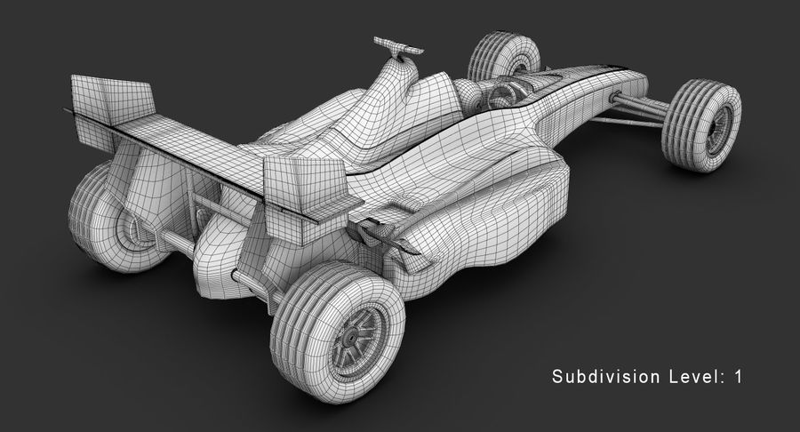 Formel 1 bil royalty-free 3d model - Preview no. 17