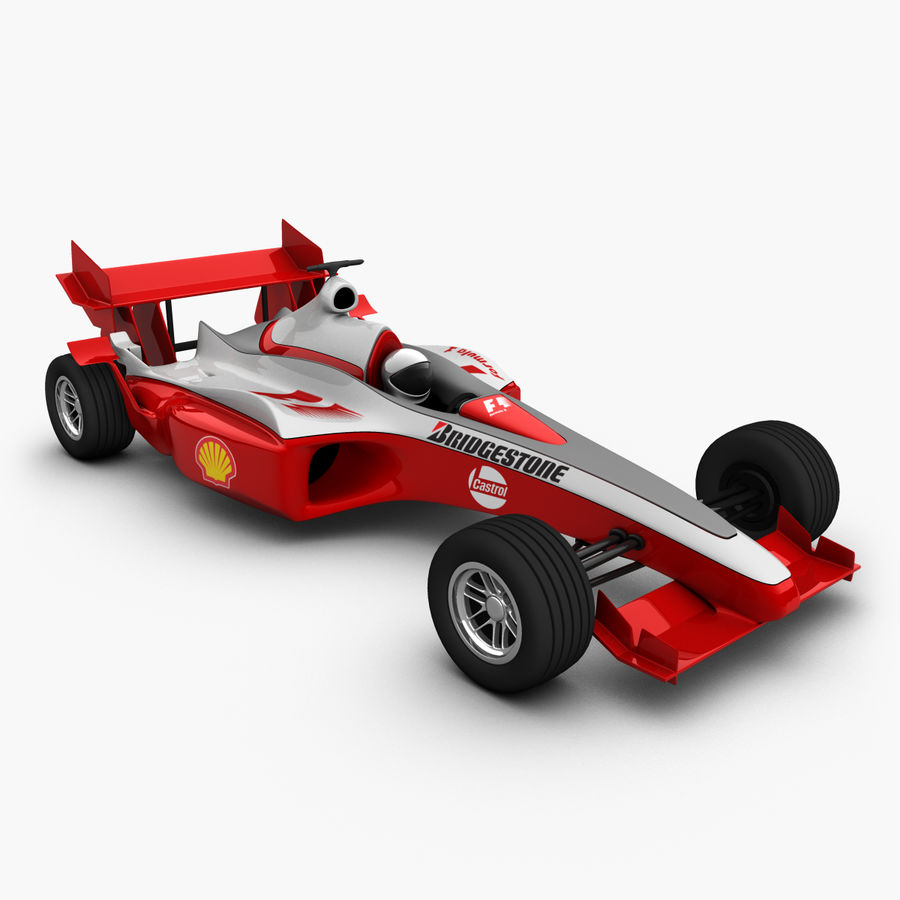 Formel 1 bil royalty-free 3d model - Preview no. 1