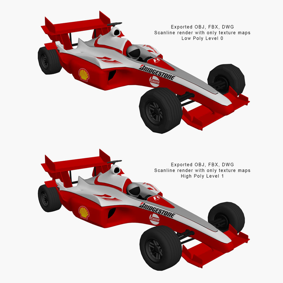 Formel 1 bil royalty-free 3d model - Preview no. 27