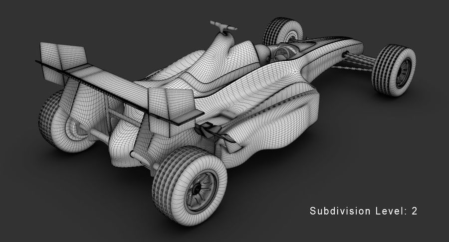 Formel 1 bil royalty-free 3d model - Preview no. 18