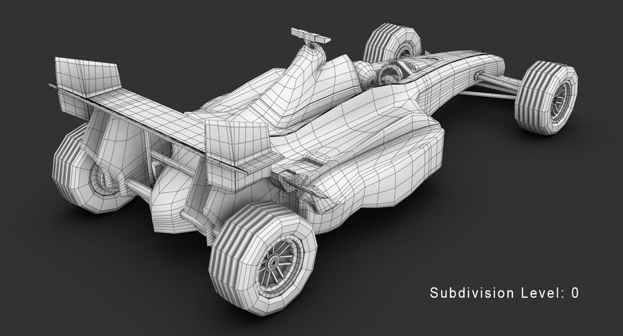 Formel 1 bil royalty-free 3d model - Preview no. 16