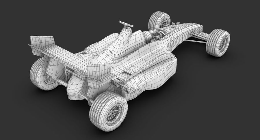 Formel 1 bil royalty-free 3d model - Preview no. 20