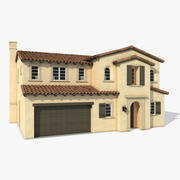 Casa do subúrbio 02 3d model