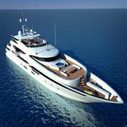 Luxary Yacht Sunseeker Predator 155 3d model