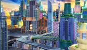 Cartoon SCI-FI City 3d model