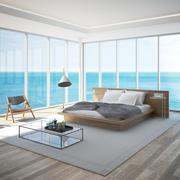 Chambre de luxe avec vue sur la mer 3d model