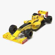 Formula One Car Yellow Modèle 3D 3d model