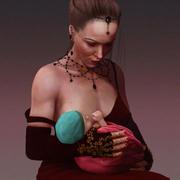 Женщина и ребенок 3d model