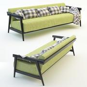 沙发格子枕头 3d model